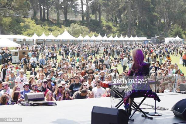 Freya Ridings performs on the Panhandle Stage during the 2018 Outside Lands Music And Arts Festival at Golden Gate Park on August 11 2018 in San...
