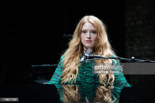 Freya Ridings poses during an exclusive portrait session at Cafe de la Danse on February 3 2020 in Paris France