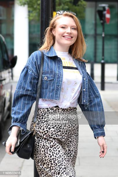 Freya Ridings seen arriving at BBC Radio 2 on July 22 2019 in London England