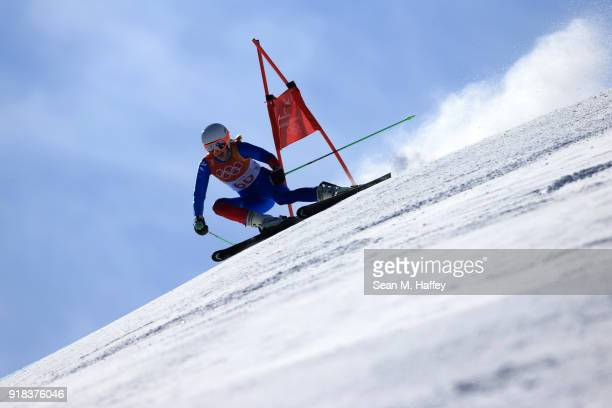 Freydis Halla Einarsdottir of Iceland competes during the Ladies' Giant Slalom on day six of the PyeongChang 2018 Winter Olympic Games at Yongpyong...