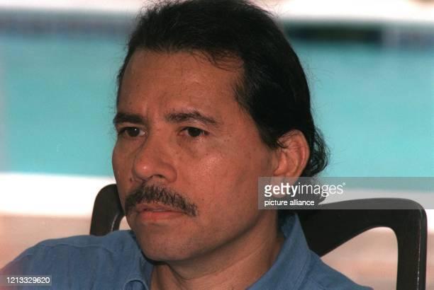 früherer nicaraguanischer Präsident Sandinistenführer aufgenommen am 951996 in Managua