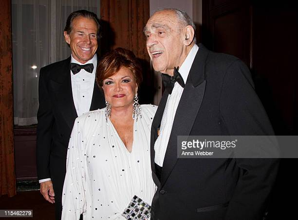 Friars Club Honoree Connie Francis and Abe Vigoda attend the 2011 Friars Foundation Applause Award Gala at The WaldorfAstoria on June 6 2011 in New...