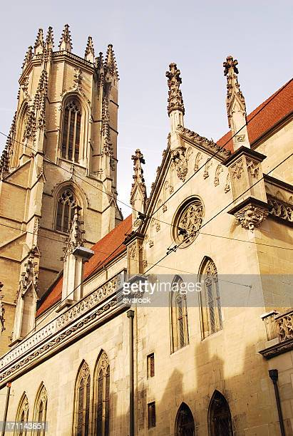 fribourg cathedral, switzerland - st. nicholas cathedral stock pictures, royalty-free photos & images