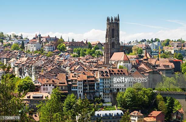 Fribourg city, alten Gebäude
