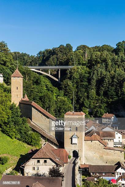 Fribourg medieval fortification in Switzerland