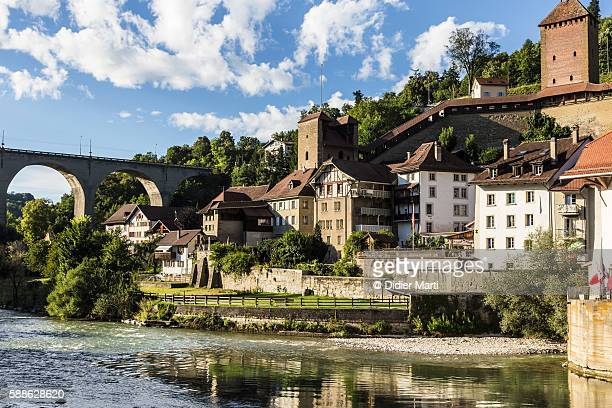 Fribourg old town in Switzerland