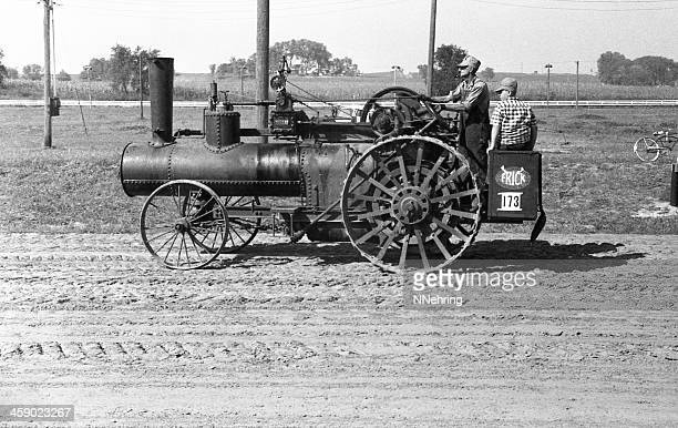 Frick steam traction engine, retro