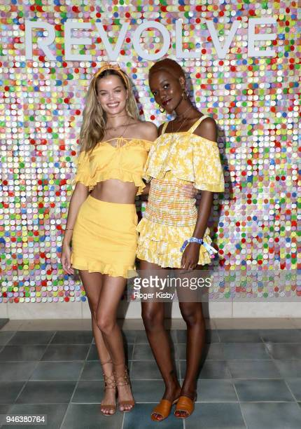 Frida Aasen and guest attend #REVOLVEfestival Day 1 on April 14 2018 in La Quinta California