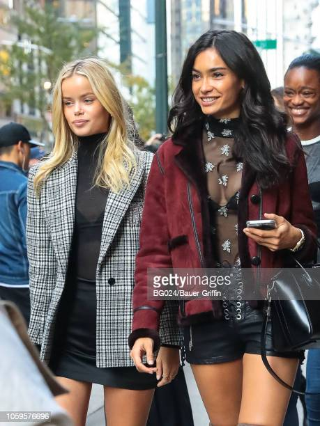 Frida Aasen and Kelly Gale is seen on November 08 2018 in New York City
