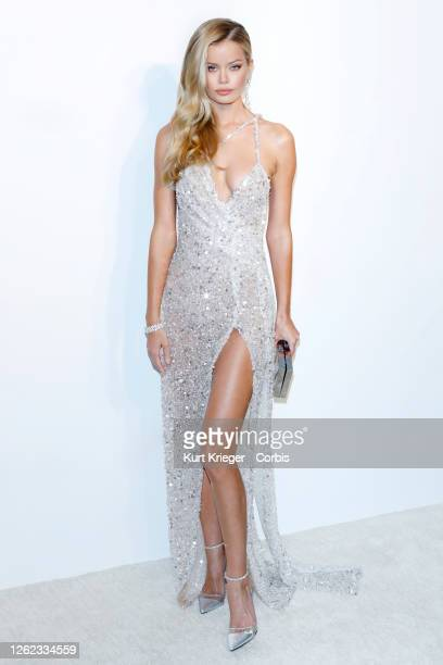Frida Aasen arrives for the 28th Annual Elton John AIDS Foundation Academy Awards Viewing Party on February 09, 2020 in West Hollywood, California.