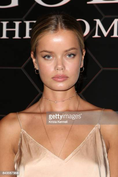 Frida Aasen attends Bulgari Goldea The Roman Night Fragrance Launch Party at The 1 Rooftop on September 6 2017 in the Brooklyn borough of New York...