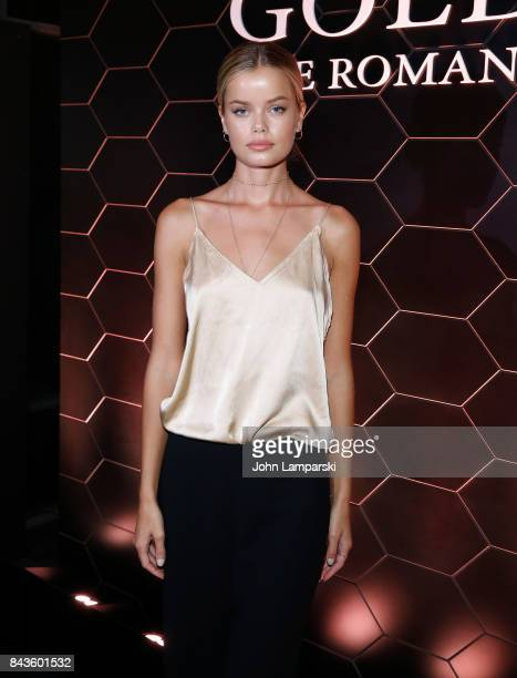 Frida Aasen attends Bulgari 'Goldea The Roman Night' fragrance launch party at 1 Hotel Brooklyn Bridge on September 6 2017 in the Brooklyn borough of...
