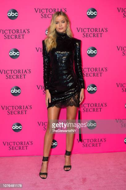 Frida Aasen attends the 2018 Victoria's Secret Fashion Show viewing party at Spring Studios on December 02 2018 in New York City
