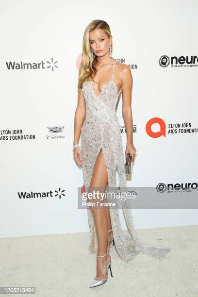 Frida Aasen attends the 28th Annual Elton John AIDS Foundation Academy Awards Viewing Party Sponsored By IMDb, Neuro Drinks And Walmart on February...