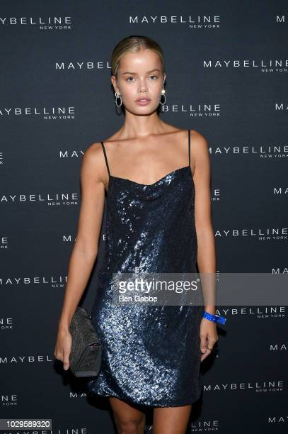 Frida Aasen attends the Maybelline x New York Fashion Week XIX Party at Mr Purple at the Hotel Indigo LES on September 8 2018 in New York City