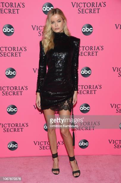 Frida Aasen attends the Victoria's Secret Viewing Party ar Spring Studios on December 2 2018 in New York City