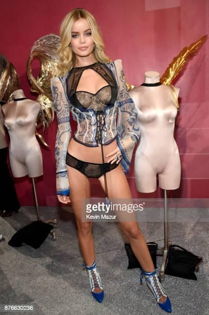 Frida Aasen backstage during 2017 Victoria's Secret Fashion Show In Shanghai at MercedesBenz Arena on November 20 2017 in Shanghai China