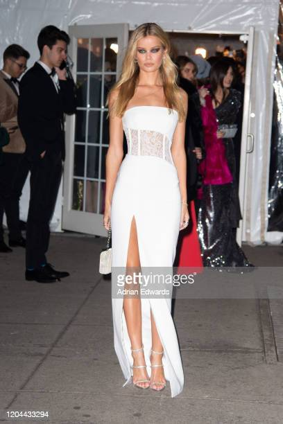 Frida Aasen outside the amFAR Gala held at Cipriani Wall St on February 5, 2020 in New York City.