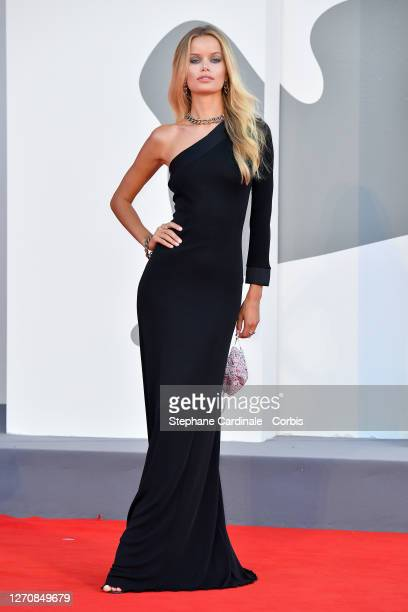 """Frida Aasen walks the red carpet ahead of the movie """"Miss Marx"""" at the 77th Venice Film Festival on September 05, 2020 in Venice, Italy."""