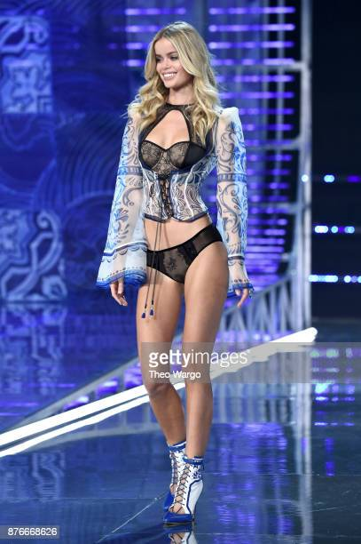Frida Aasen walks the runway during the 2017 Victoria's Secret Fashion Show In Shanghai at MercedesBenz Arena on November 20 2017 in Shanghai China