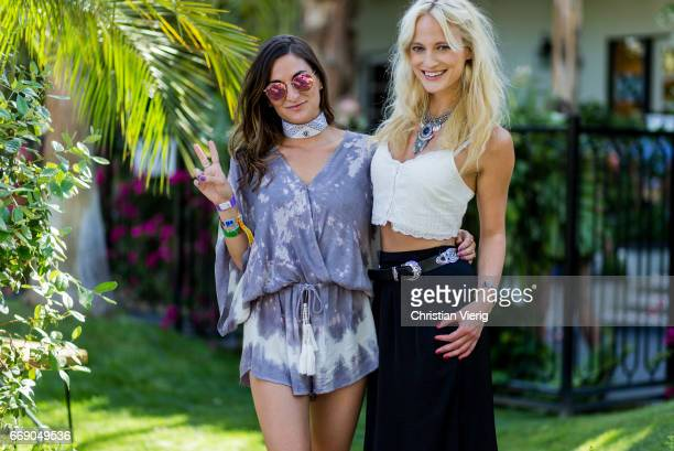 Frida and Rachael during day 2 of the 2017 Coachella Valley Music Arts Festival Weekend 1 on April 15 2017 in Indio California