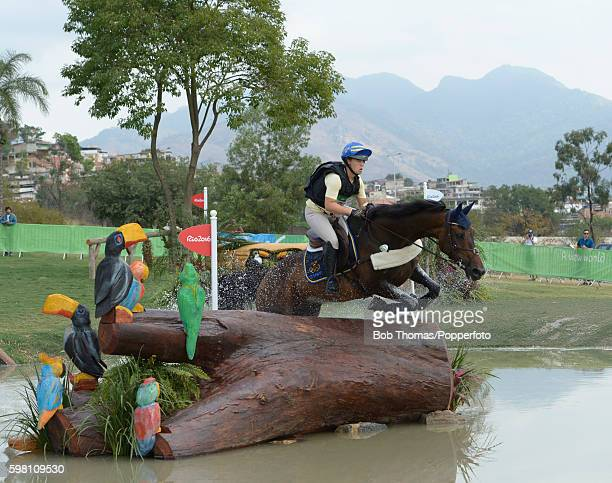 Frida Andersen of Sweden riding Herta during the Cross Country Eventing on Day 3 of the Rio 2016 Olympic Games at the Olympic Equestrian Centre on...