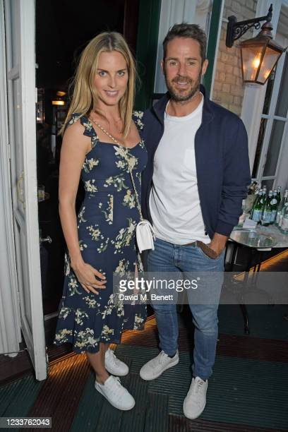 Frida Andersson-Lourie and Jamie Redknapp attend Andy Valmorbida and Untitled-1's dinner for the Richard Hambleton, Rizzoli and Castle Gallery...