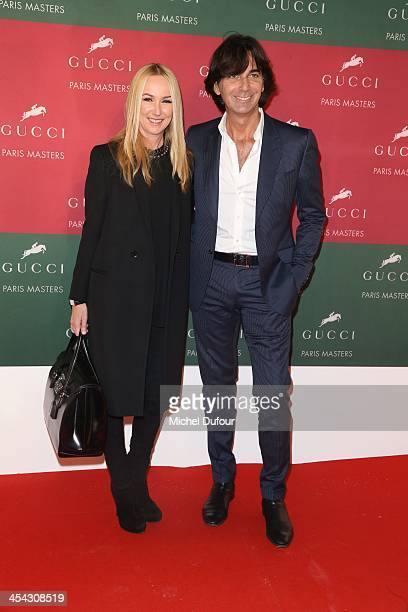 Frida Giannini and Fabrizio Alloro attends the Gucci Paris Masters 2013 Day 4 at Paris Nord Villepinte on December 8 2013 in Paris France
