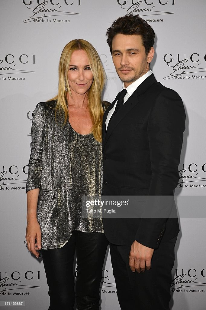 Frida Giannini and James Franco attend 'Gucci Made to Measure Launch' on June 24, 2013 in Milan, Italy.