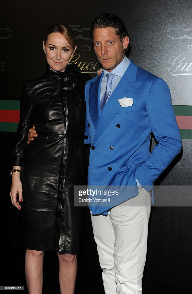 Frida Giannini and Lapo Elkann attend the 550 by Gucci launch party during the Milan fashion week womenswear Autumn/Winter 2011on February 23, 2011 in Milan, Italy.
