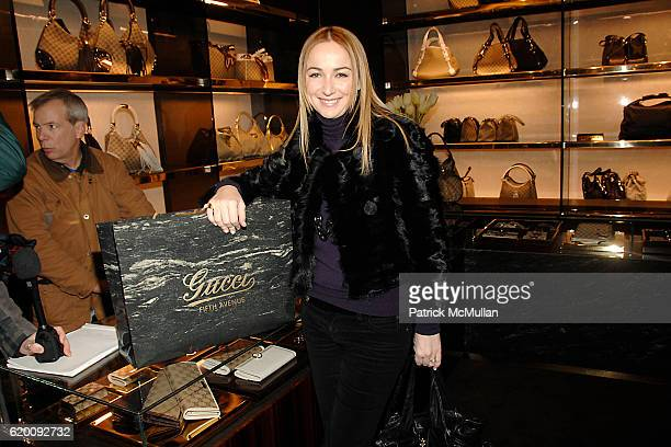 Frida Giannini attends DONALD TRUMP Joins GUCCI for Ribbon Cutting of the FIFTH AVENUE FLAGSHIP GUCCI STORE at Gucci on February 8 2008 in New York...