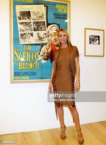 Frida Giannini attends the Labirinto Fellini press preview held at the Macro Museum on October 29 2010 in Rome Italy