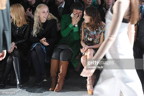 Frida Giannini, Franca Sozzani, Angelica Cheung and Alexa Chung attend International Woolmark Prize during Milan Fashion Week Womenswear...