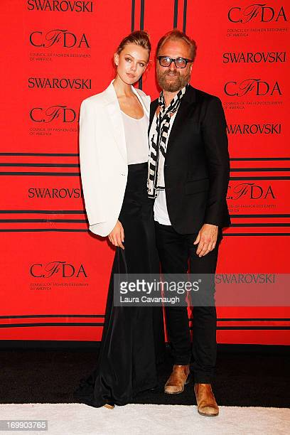 Frida Gustavsson and John Lindeberg attends the 2013 CFDA Fashion Awards on June 3 2013 in New York United States
