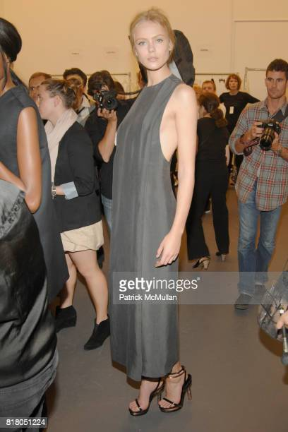 Frida Gustavsson attend CALVIN KLEIN Collection Women's Spring 2011 Runway Show at 205 West 39th Street on September 16th 2010 in New York City