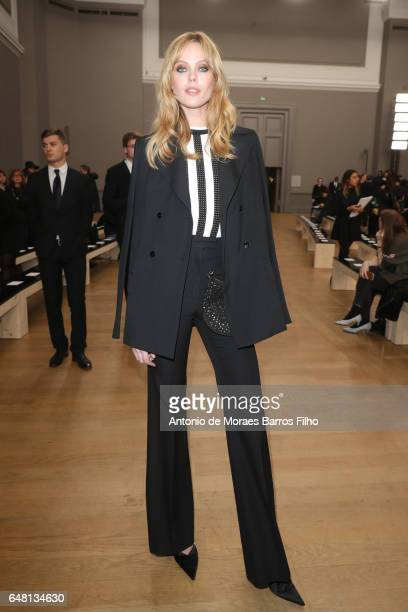 Frida Gustavsson attends the Nina Ricci show as part of the Paris Fashion Week Womenswear Fall/Winter 2017/2018 on March 4 2017 in Paris France