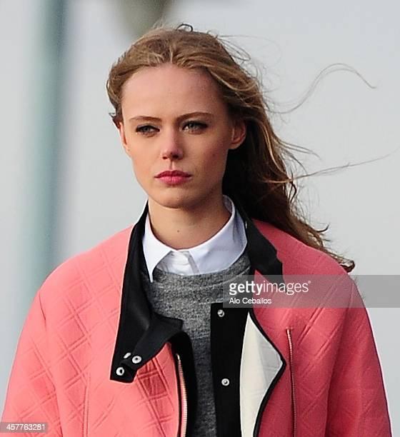 Frida Gustavsson is seen on December 18 2013 in New York City