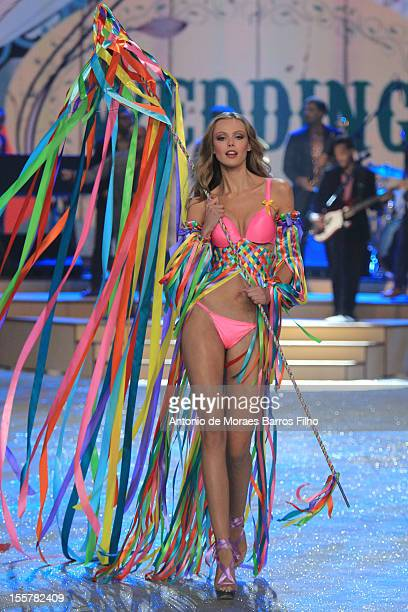13c92267d4 Frida Gustavsson walks the runway during the 2012 Victoria s Secret Fashion  Show at the Lexington Avenue