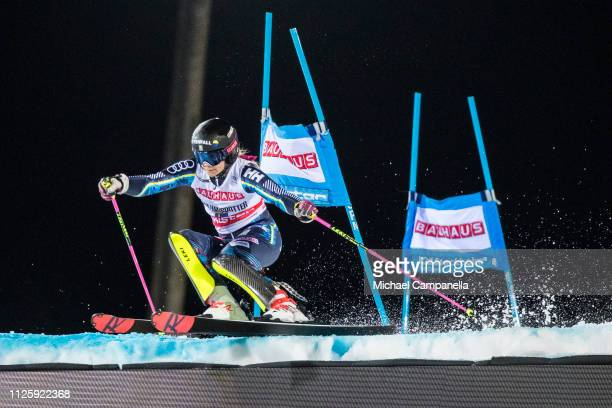 Frida Hansdotter of Sweden competes during Audi FIS Alpine Ski World Cup 2019 at Hammarbybacken on February 19 2019 in Stockholm Sweden