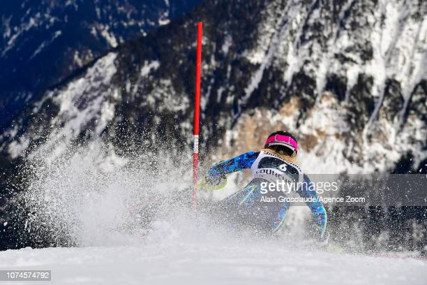 Frida Hansdotter of Sweden competes during the Audi FIS Alpine Ski World Cup Women's Slalom on December 22 2018 in Courchevel France