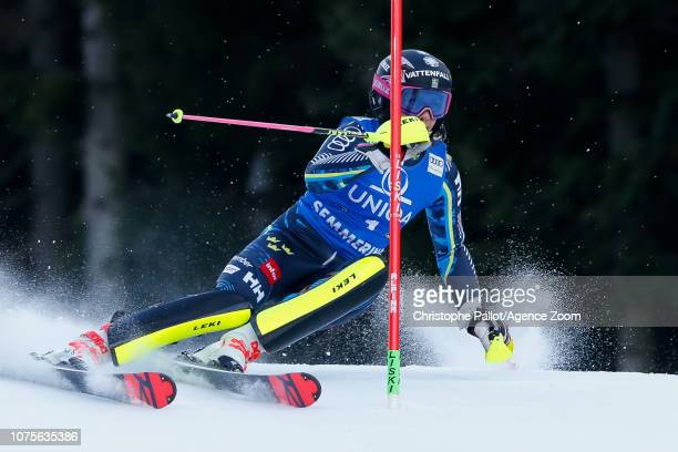 Frida Hansdotter of Sweden competes during the Audi FIS Alpine Ski World Cup Women's Slalom on December 29 2018 in Semmering Austria