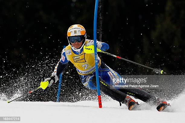 Frida Hansdotter of Sweden competes during the Audi FIS Alpine Ski World Cup Women's Slalom on March 10 2013 in Ofterschwang Germany
