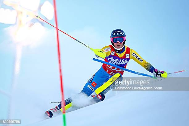 Frida Hansdotter of Sweden competes during the Audi FIS Alpine Ski World Cup Women's Slalom on November 12 2016 in Levi Finland