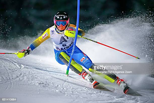 Frida Hansdotter of Sweden competes during the Audi FIS Alpine Ski World Cup Women's Slalom on January 10 2017 in Flachau Austria