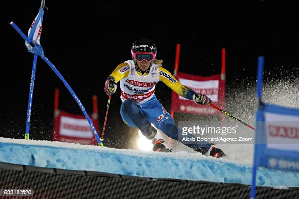 Frida Hansdotter of Sweden competes during the Audi FIS Alpine Ski World Cup Men's and Women's Parallel Slalom City Event on January 31 2017 in...