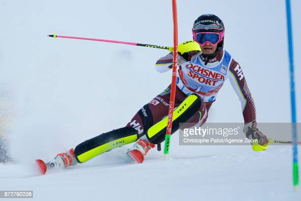 Frida Hansdotter of Sweden competes during the Audi FIS Alpine Ski World Cup Women's Slalom on November 11 2017 in Levi Finland