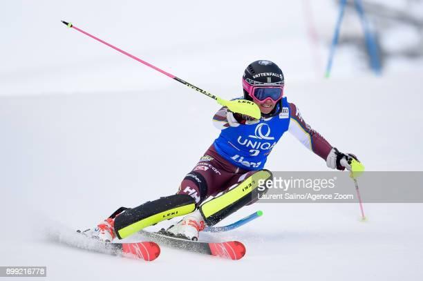 Frida Hansdotter of Sweden competes during the Audi FIS Alpine Ski World Cup Women's Slalom on December 28, 2017 in Lienz, Austria.