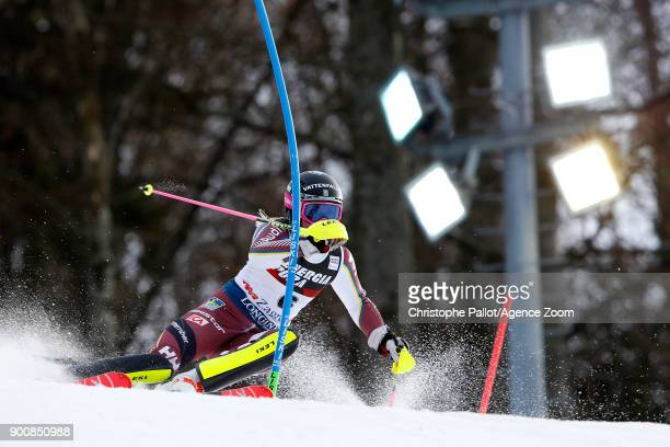 Frida Hansdotter of Sweden competes during the Audi FIS Alpine Ski World Cup Women's Slalom on January 3 2018 in Zagreb Croatia