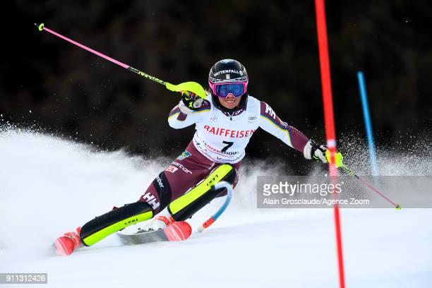 Frida Hansdotter of Sweden competes during the Audi FIS Alpine Ski World Cup Women's Slalom on January 28 2018 in Lenzerheide Switzerland