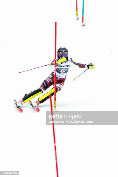 Frida Hansdotter of Sweden competes during the Audi FIS Alpine Ski World Cup Women's Slalom on March 10 2018 in Ofterschwang Germany